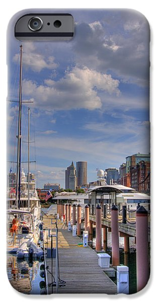 Sailboats in Constitution Marina - Boston iPhone Case by Joann Vitali