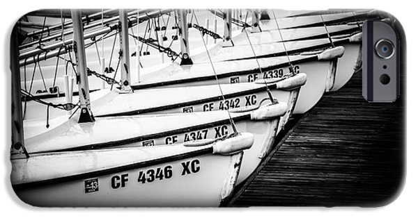 Sailboat Photos iPhone Cases - Sailboats in Newport Beach California Picture iPhone Case by Paul Velgos