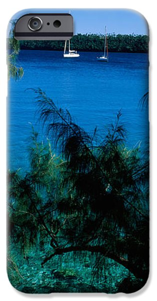 Sailboat Ocean iPhone Cases - Sailboats In The Ocean, Kingdom iPhone Case by Panoramic Images