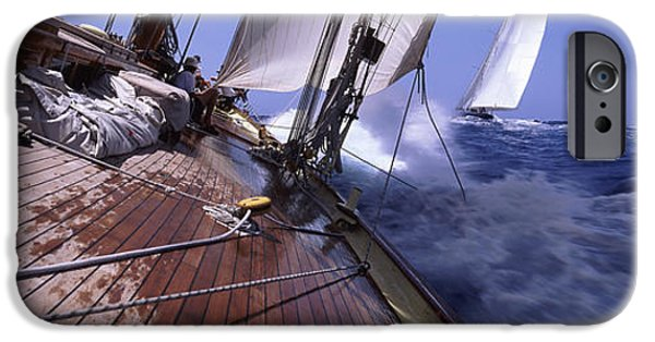 Sailboat iPhone Cases - Sailboats In The Sea, Antigua, Antigua iPhone Case by Panoramic Images
