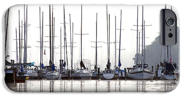 Sailing iPhone Cases - Sailboats Reflected iPhone Case by Sharon Popek