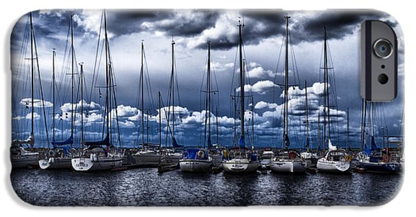 Sailboat Ocean iPhone Cases - Sailboats iPhone Case by Stylianos Kleanthous