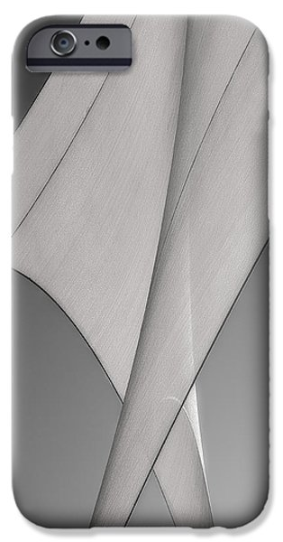 Yachting iPhone Cases - Sailcloth Abstract Number 3 iPhone Case by Bob Orsillo