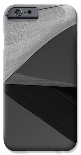 Sailcloth Abstract Number 9 iPhone Case by Bob Orsillo