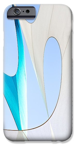 Sailcloth Abstract Number Twenty iPhone Case by Bob Orsillo