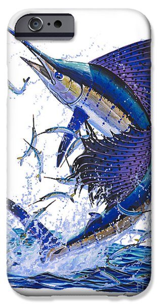 Sailfish iPhone Cases - Sailfish iPhone Case by Carey Chen