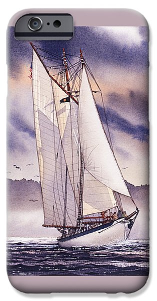 Sailing Ship Framed Prints iPhone Cases - Sailing Adventure iPhone Case by James Williamson