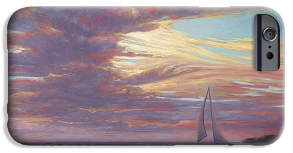 Clouds iPhone Cases - Sailing Away iPhone Case by Lucie Bilodeau
