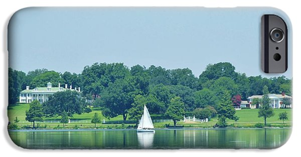 Recently Sold -  - The White House Photographs iPhone Cases - Sailing Between Two Mansions iPhone Case by Donna Wilson