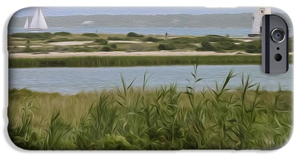 New England Lighthouse iPhone Cases - Sailing iPhone Case by Bill  Wakeley