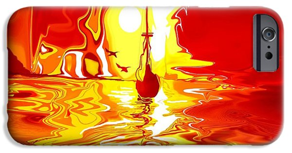 Piano iPhone Cases - Sailing  iPhone Case by Boghrat Sadeghan