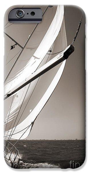 Sailboat iPhone Cases - Sailing Fast Charleston South Carolina iPhone Case by Dustin K Ryan