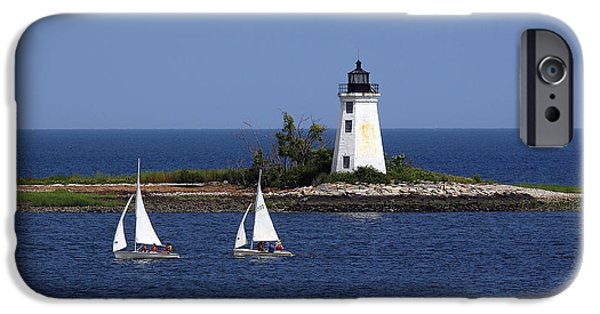 Boat iPhone Cases - Sailing iPhone Case by Gail Falcon