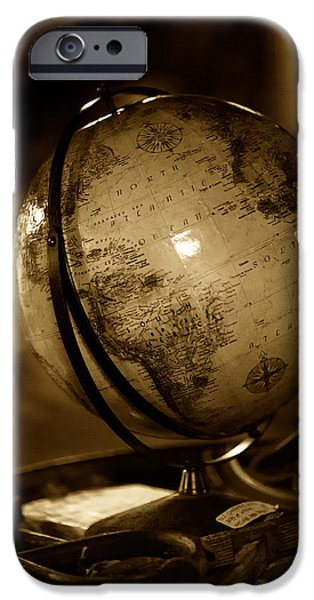 Boston Globe iPhone Cases - Sailing Globe iPhone Case by Andy Fung