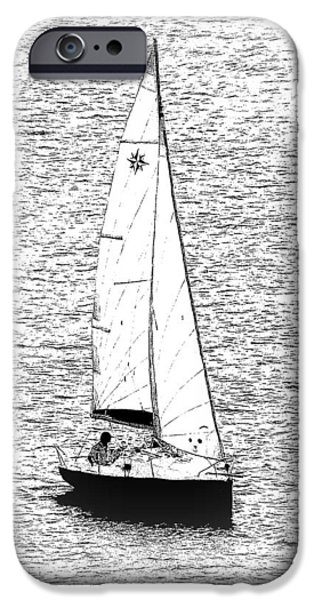 Pleasure Drawings iPhone Cases - Sailing Home iPhone Case by John Tidball