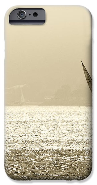 Sailing in San Diego Harbor iPhone Case by Artist and Photographer Laura Wrede