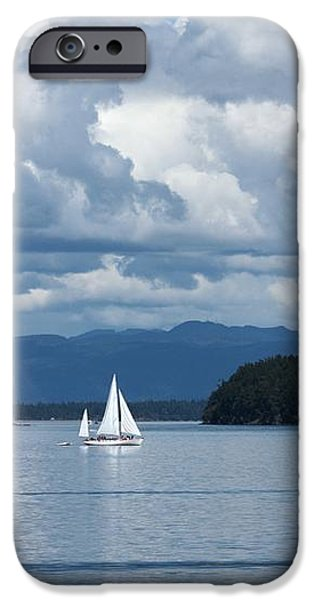 Sailing in the San Juans iPhone Case by Carol Groenen