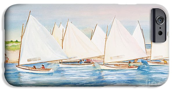 Sailing iPhone Cases - Sailing in the Summertime II iPhone Case by Michelle Wiarda