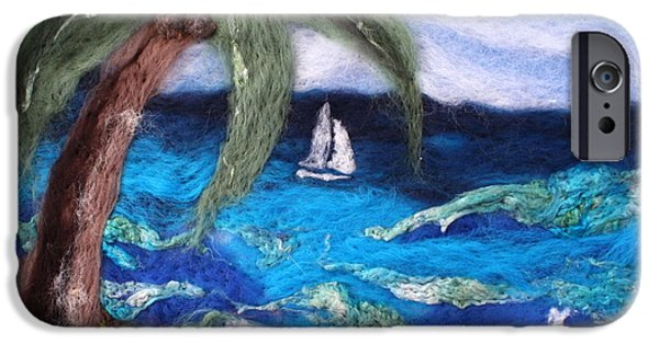 Sailing Tapestries - Textiles iPhone Cases - Sailing iPhone Case by Kyla Corbett