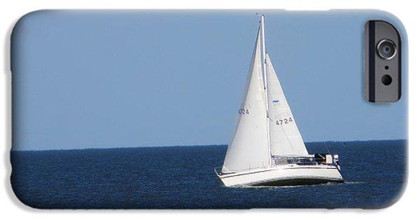 Sailboats iPhone Cases - Sailing iPhone Case by Manuel Matas