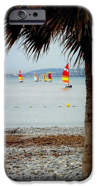Sailing on a Cloudy Morning iPhone Case by Lainie Wrightson