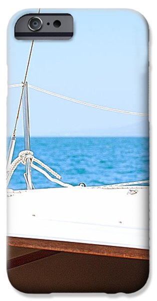Sailing on a Fine Sunny Day iPhone Case by Artist and Photographer Laura Wrede