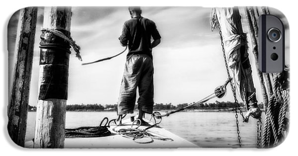 Boat Cruise iPhone Cases - Sailing On The Nile iPhone Case by Erik Brede