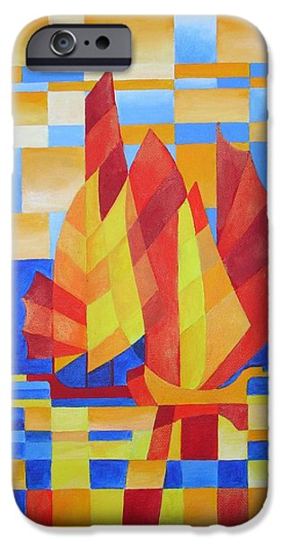 Sailing On The Seven Seas So Blue iPhone Case by Tracey Harrington-Simpson