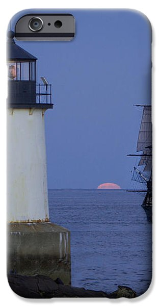 Sailing out for the red moon iPhone Case by Jeff Folger