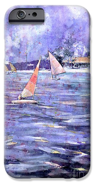 Chicago Paintings iPhone Cases - Sailing Race iPhone Case by Ryan Fox