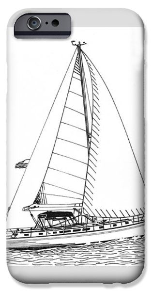 Sailboats In Water iPhone Cases - Sailing Sailing Sailing iPhone Case by Jack Pumphrey