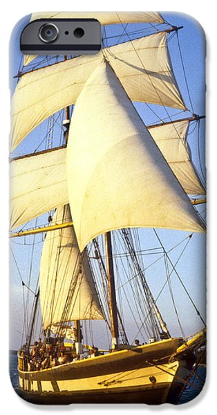 Pirate Ship iPhone Cases - Sailing ship carribean iPhone Case by Douglas Barnett