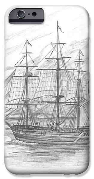 Sailing Ship Enterprise iPhone Case by Michael Penny