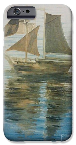 Historic Schooner iPhone Cases - Sailing Ship iPhone Case by Isabella F Abbie Shores LstAngel Arts