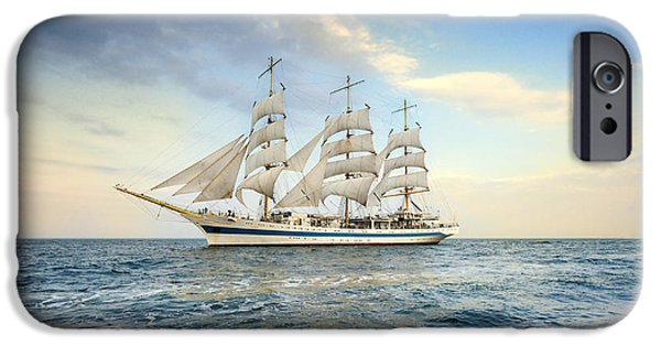 Pirate Ships iPhone Cases - Sailing Ship iPhone Case by Jan Sieminski