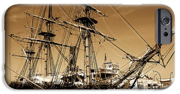 Award Winning Art iPhone Cases - Sailing Ships iPhone Case by Cheryl Young