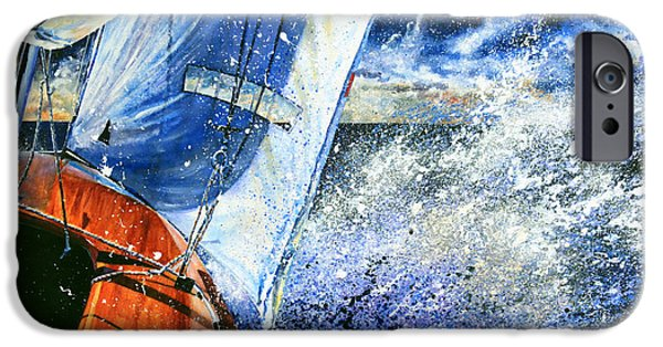 Sailboat iPhone Cases - Sailing Souls iPhone Case by Hanne Lore Koehler