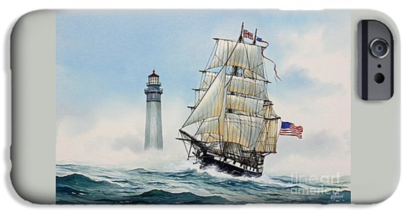Sailing Ship Framed Prints iPhone Cases - Sailing Spirit iPhone Case by James Williamson