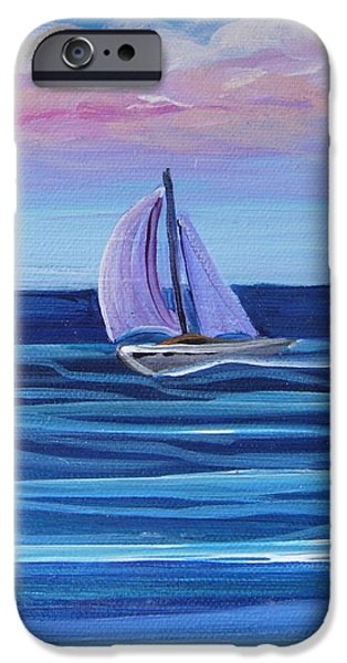 Sailboat Ocean iPhone Cases - Sailing iPhone Case by Suzanne MacAdam