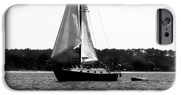 Sailboat Ocean iPhone Cases - Sailing The Bay iPhone Case by Debra Forand