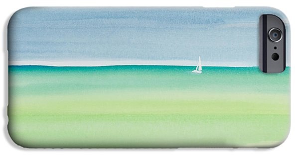 Michelle iPhone Cases - Sailing the Keys Watercolor Painting iPhone Case by Michelle Wiarda