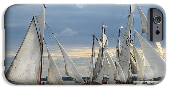 Wooden Ship iPhone Cases - Sailing the Limfjord iPhone Case by Robert Lacy