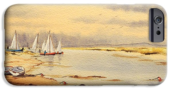 Sail Board iPhone Cases - Sailing Time iPhone Case by Bill Holkham