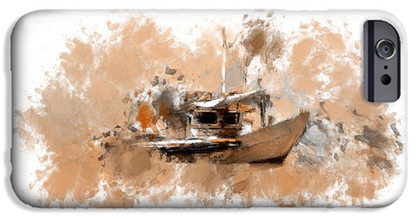 Boats In Water iPhone Cases - Sailing Time iPhone Case by Lourry Legarde