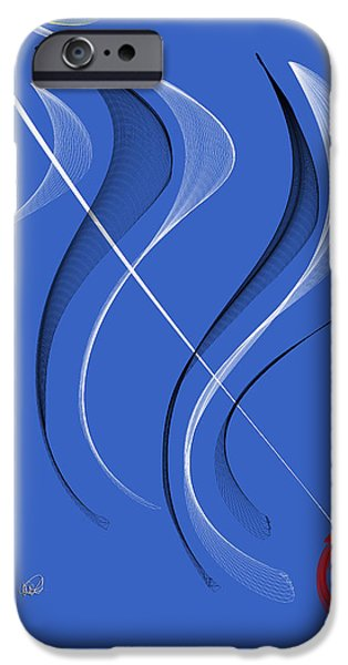 Abstract Digital Paintings iPhone Cases - Sailing to the Rhythm of Music iPhone Case by Angela A Stanton