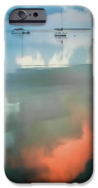 Sailing iPhone Cases - Sailing Upon Dreams iPhone Case by Karen Wiles