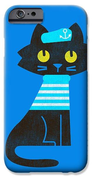 sailor cat iPhone Case by Budi Kwan