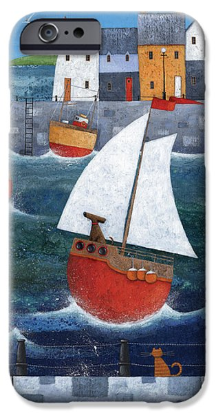 Recently Sold -  - Sailboat iPhone Cases - Sailor Dog iPhone Case by Peter Adderley