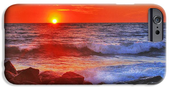 Red Rock iPhone Cases - Sailor Take Warning iPhone Case by Don Durfee