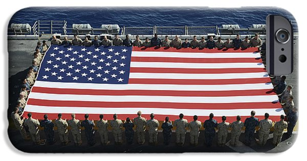 Recently Sold -  - Flight iPhone Cases - Sailors And Marines Display iPhone Case by Stocktrek Images